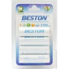 Аккумулятор BESTON AA 2700mAh Ni-MH 4шт Ready-to-use